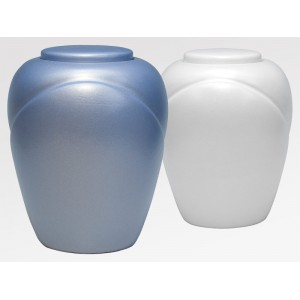 Sand and Gelatine Urn Traditional Aqua Blue (L) or Traditional Pearl (R)